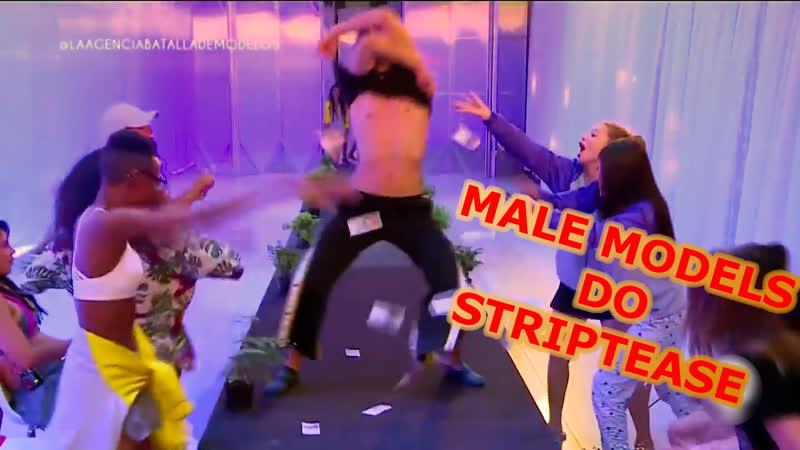 Male models do striptease