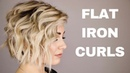 HOW TO CURL WITH A FLAT IRON || short hair
