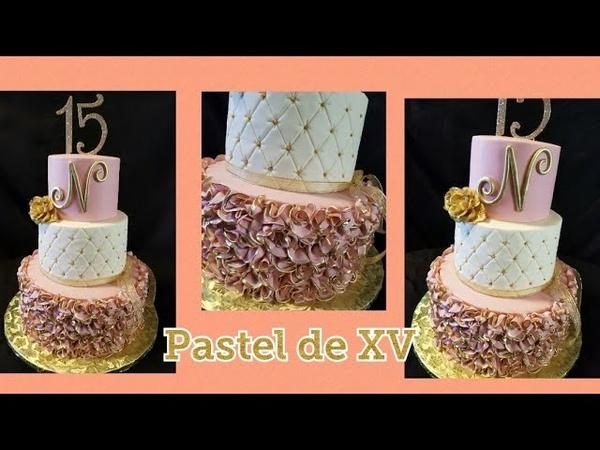 Pastel de quinceañera 😍😍😍 Rufles cake
