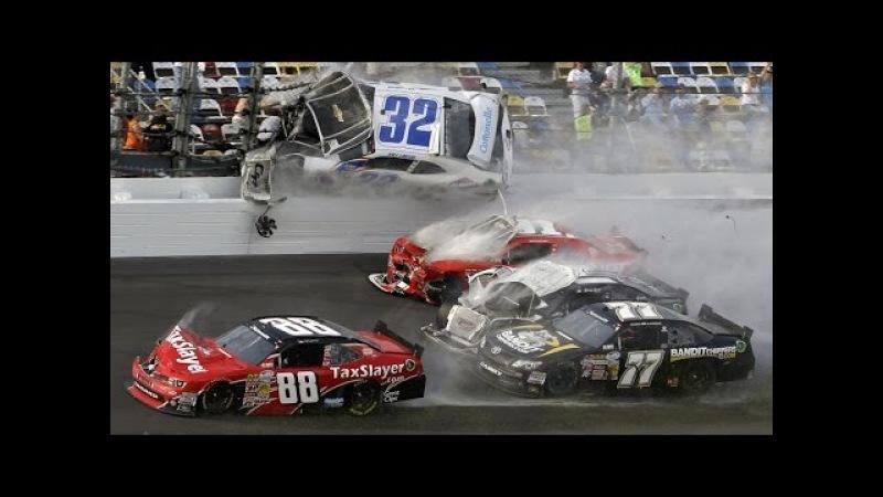 Жесткие аварии на гонках автомобили в хлам жесть