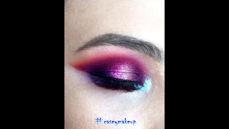 Ксения Саватеева. Яркий цветной макияж глаз (color makeup)