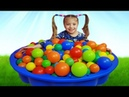 Learn Colors with Little Girl and ball video for Children