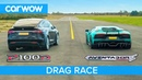 Lamborghini Aventador vs Tesla Model X - DRAG ROLLING RACE - Can an EV SUV beat a supercar?