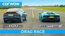 Lamborghini Aventador vs Tesla Model X - DRAG ROLLING RACE - Can an EV SUV beat a supercar?