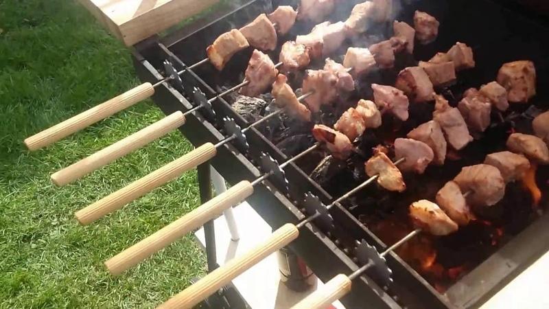 Homemade automatic BBQ grill idea