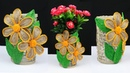 How to make a beautiful flower vase with jute rope and plastic bottle | best out of waste