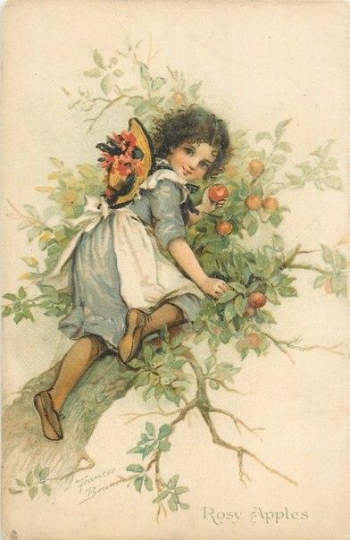 Очаровательные старинные открытки с изображением детей. Приятно разглядывать детали. :)