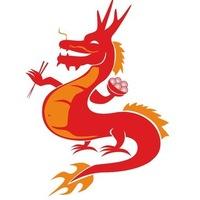Логотип Лапшичная Сытый Дракон / Калуга (роллы, wok)