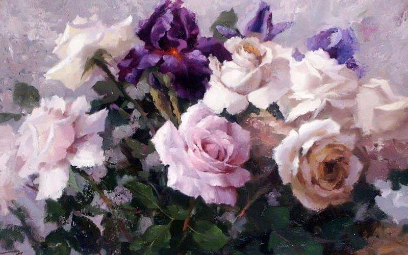 розы на окне по картине ю николаева детстве