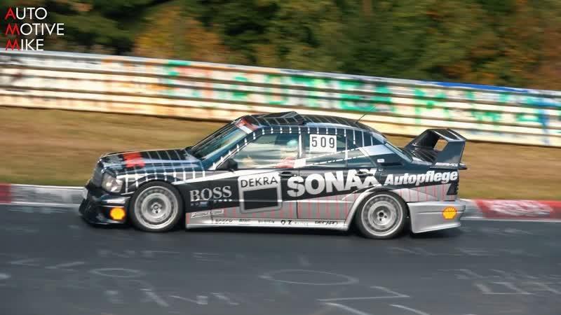 Громкий Mercedes-Benz 190E 2.5 16V EVO II на Нюрбургринге