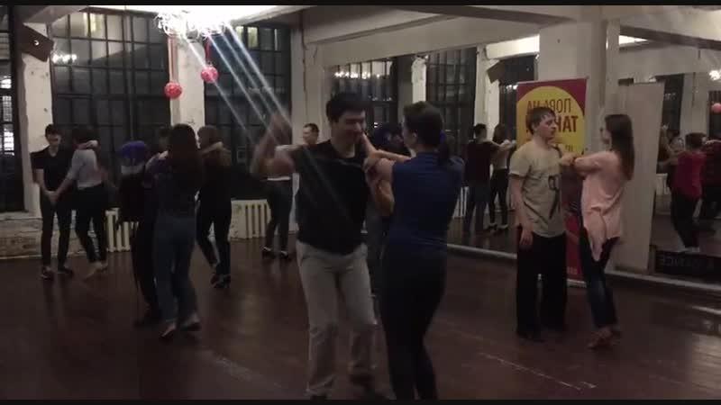 Bachata, фрагмент урока, Ismael Hidalgo, школа танцев Держи Ритм
