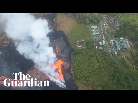 Lava from Hawaii's Kīlauea volcano enters power plant site