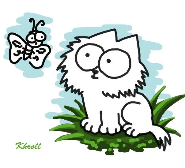 Картинки кот белый