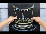 Гирлянда из флажков на торт