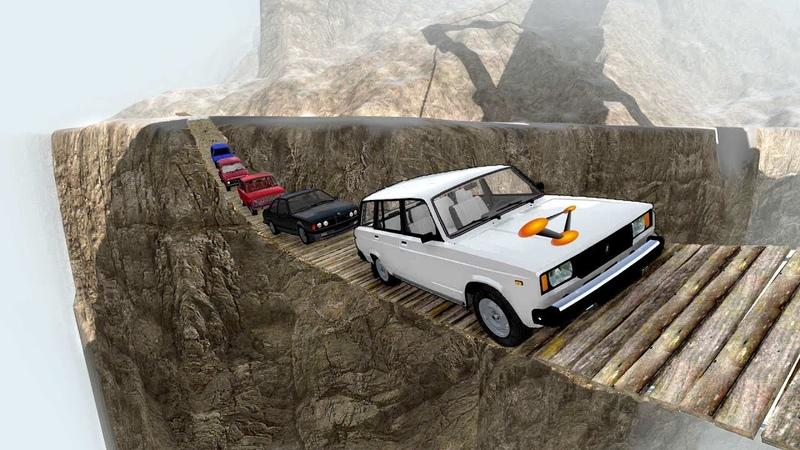 ОБРЫВ СМЕРТИ! ПОДВЕСНОЙ МОСТ ЧЕРЕЗ УЩЕЛЬЕ   BeamNG.drive