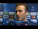 PSG Vs Barcelona 2-2 - David Beckham Interview - April 2 2013 - [HD]