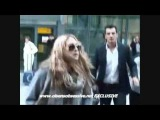 Mary-Kate Olsen and Ashley Olsen land at London's Heathrow Airport - EXCLUSIVE