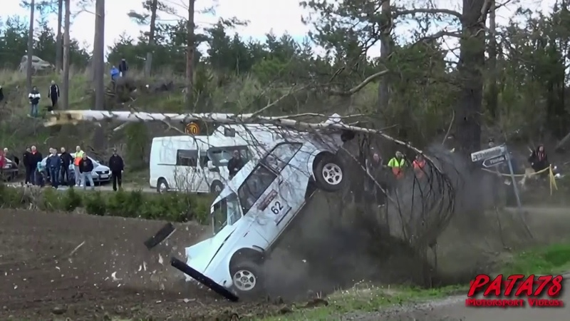 Best of Finnish rally crashes 2011-2017