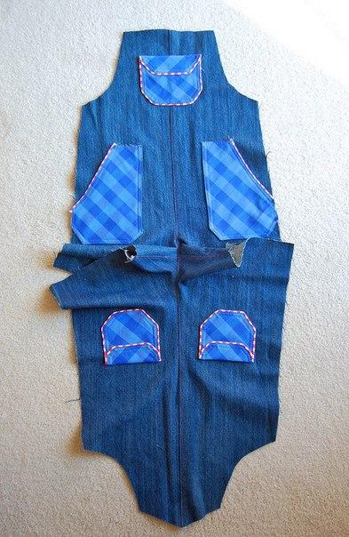 Шьем джинсовый комбинезон для малышей