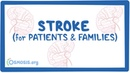 Stroke (for patients families)