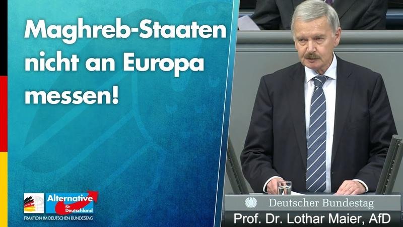 Maghreb-Staaten nicht an Europa messen! - Prof. Dr. Lothar Maier - AfD-Fraktion