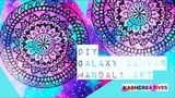 DIY EASY GALAXY CANVAS MANDALA ART HOME DECOR (Time-Lapse) Kash Creatives