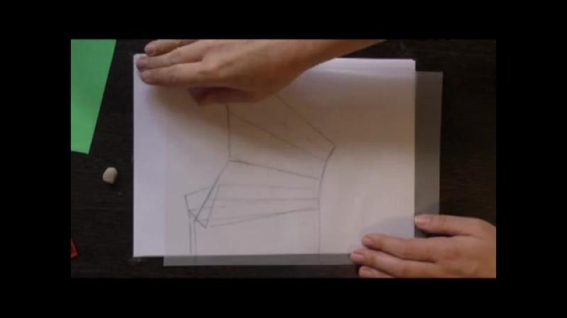юбка с карманами в складках. моделируем