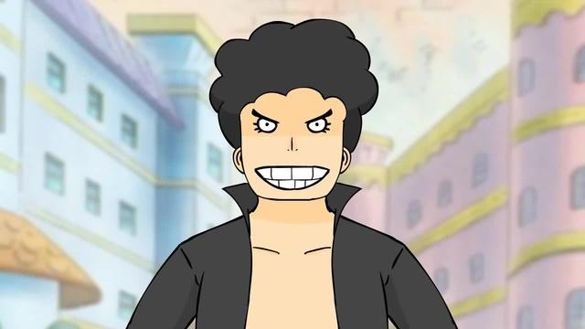 Luffy vs villian guy