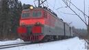 В ледяной дождь! Электровоз ВЛ11-058/084Б с грузовым поездом, БМО ж/д
