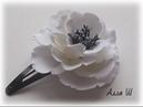 МК Заколка клик клак с цветком из фоамирана