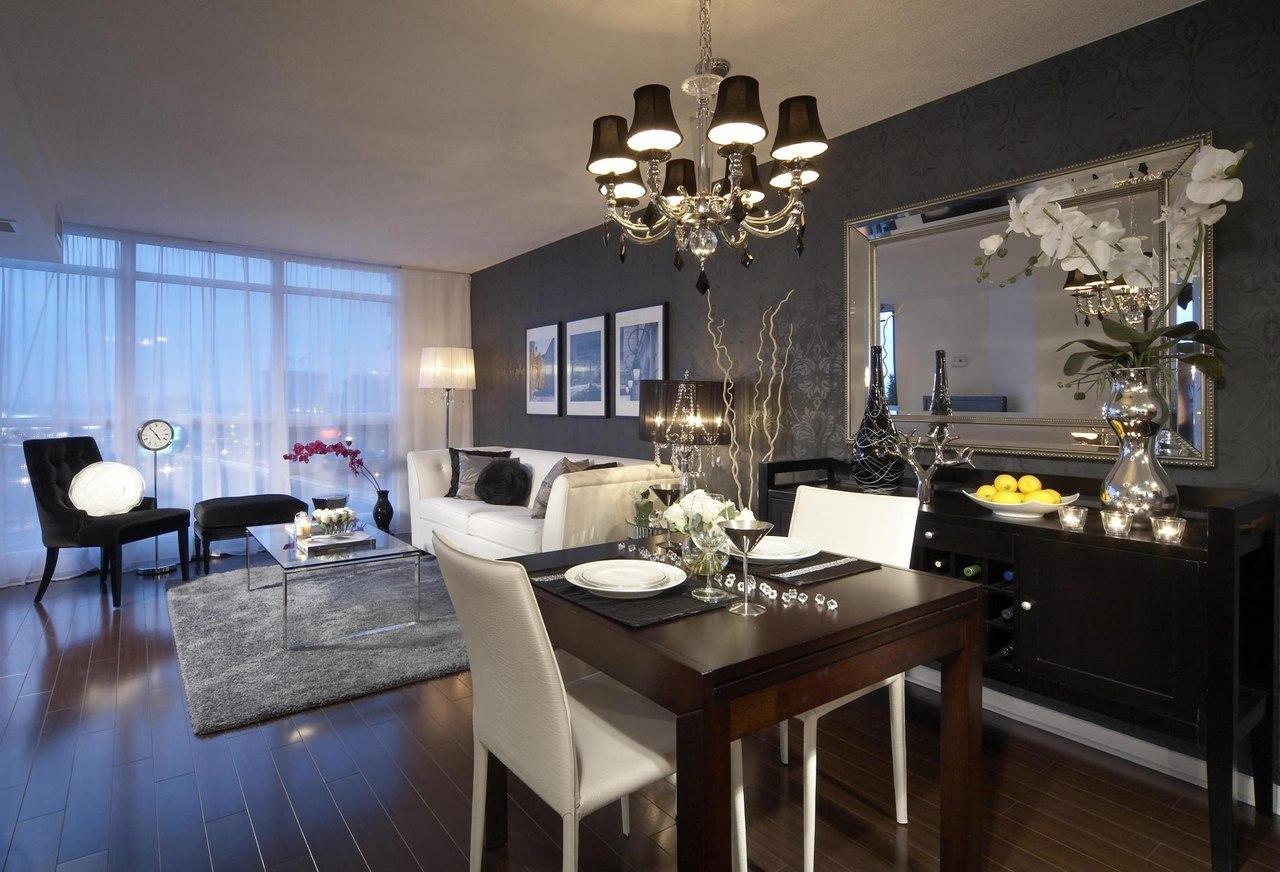 Дизайн стола в гостиной