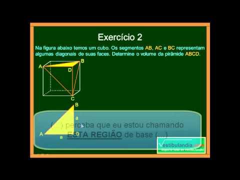 Matemática Aula 68 Geometria Espacial Métrica Pirâmides Parte 2 Final