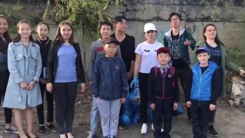 Флешмоб-акция ЭкологияНачинаетсясНас