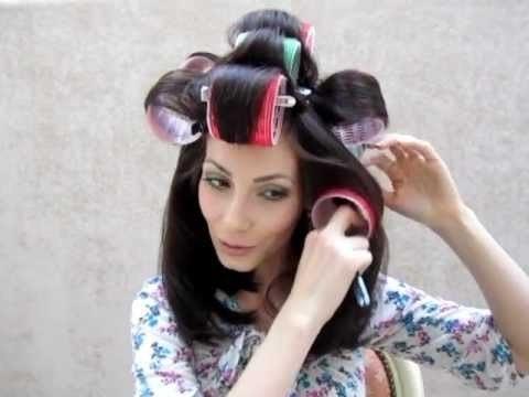 Укладка волос с бигудями на липучках