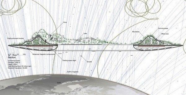 Літаюче місто від китайського архітектора