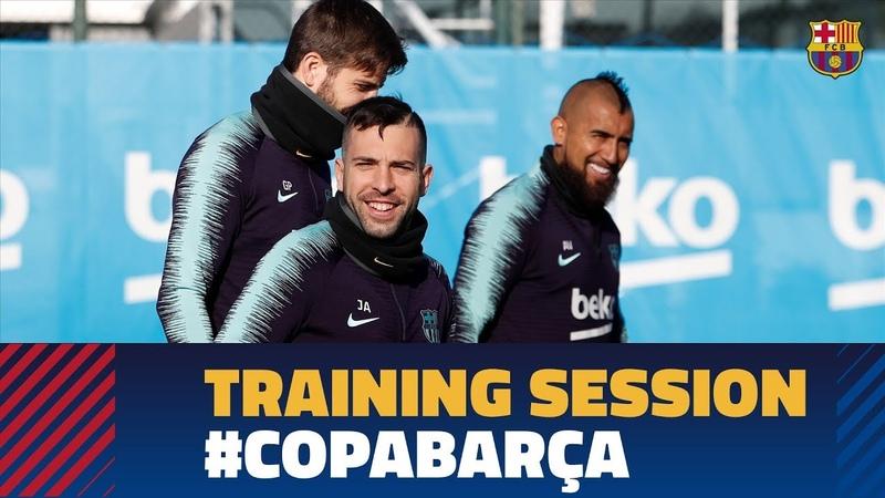 Открытая тренировка Барселоны перед матчем с Леванте