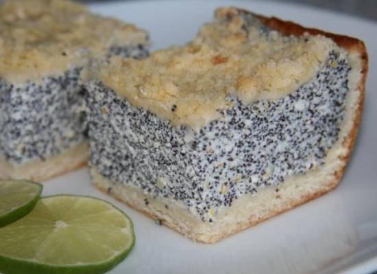 Маковый пирог рецепт с фото