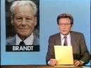 ARD Tagesschau Sendeschluß Mo. 28.1.1985