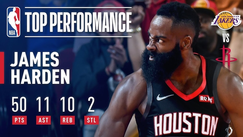 James Harden EXPLODES for 50-Point Triple-Double In Win Over Lakers   December 13, 2018