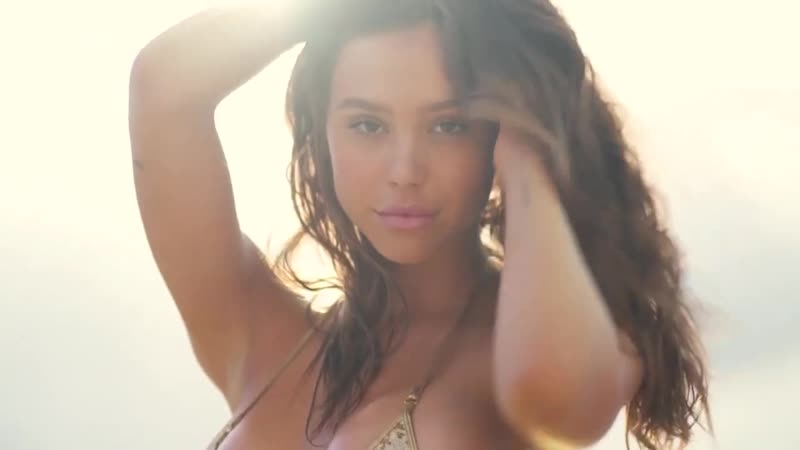 Alexis Ren Shines in a Tiny Gold Swimsuit