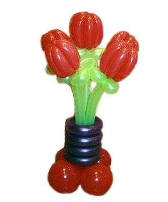№325. Цветы из шаров «Красные тюльпаны»