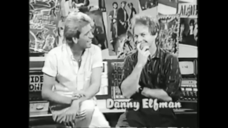 Danny Elfman interview on Video One with Richard Blade (1986?)
