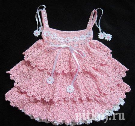 Платье Красавица саванна крючком от Юлии Новиковой… (3 фото) - картинка