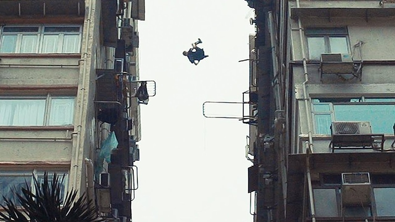 Crazy front flip roof gap!! (80 meters high) in Hong Kong 🇭🇰