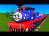 Развивающие мультфильмы для детей от 3 лет. Учимся считать от 1 до 10 с паровозиком Чух-Чухом.