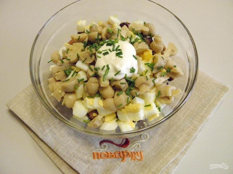 салат с консервированной фасолью фото рецепт