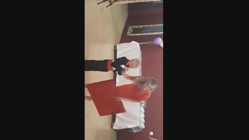 Поздравление Саши на свадьбе крестной и Жени