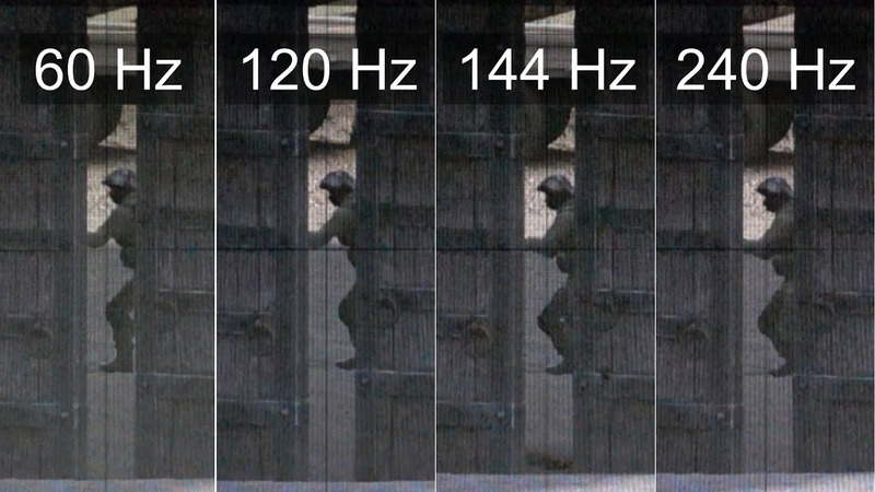 [Slow motion] 240Hz vs 144Hz vs 120Hz vs 60Hz - CS:GO