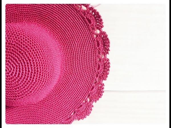 Hướng dẫn móc mũ rộng vành Mẫu 2 Móc vành hoa rẻ quạt Tutorial crochet sun hat Ver2 HaNa
