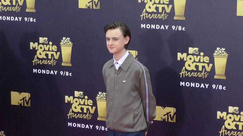 Jaeden Lieberher at the 2018 MTV Movie And TV Awards at Barker Hangar in Santa Monica